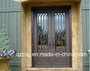 Double Iron Door with Square Top