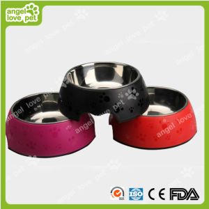 Matte Surface Footprint Pattern Plastic Pet Dog Bowl pictures & photos