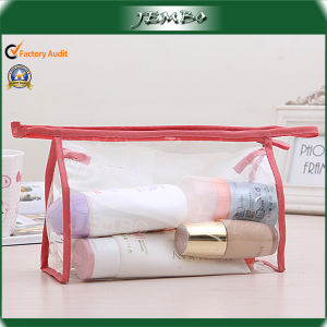 Hot Sell Quality Transparent Handmade Zippered Wash Bag pictures & photos