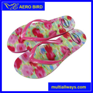 New Fashion Product Flowesr Print PE Slipper for Girl pictures & photos