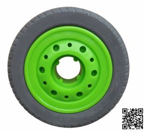 Heavy Duty Elastic Grey Rubber Tyre Wheel pictures & photos