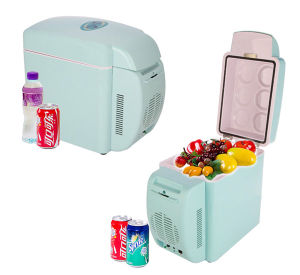 Portable Car Mini Fridge 7liter DC12V AC100-240V in Both Cooling and Warming Application pictures & photos