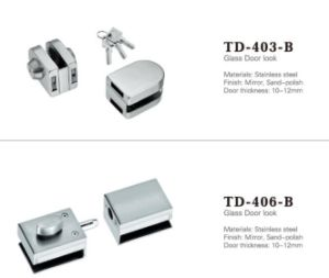 High Quality Stainless Steel Glass Door Lock/ Td-403-B pictures & photos