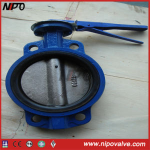 Cast Iron Line Fluorine Wafer Butterfly Valve pictures & photos