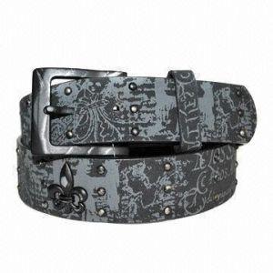 Printed PU Belt with Metal Studs