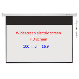 Widescreen Electric Screen 100 Inch High-Definition pictures & photos