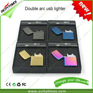 2016 Wholesale OEM Electronic Double Arc USB Lighter E Cig pictures & photos