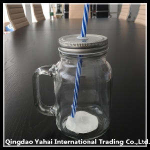 450ml Glass Jar with Metal Cap and Handle pictures & photos