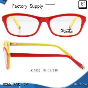 Fashion Double Color Eyeglasses Frames for Optical (A15402)