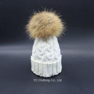 Wholesale Woolen Pompoms Winter Hat pictures & photos
