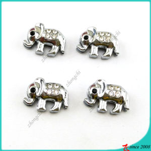 Cute Silver Animal Elephant Slide Charms for Bracelet (SC16041904)