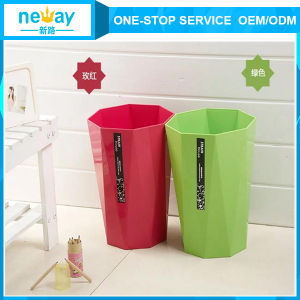 China Manufacturer of Octagon 8L Plastic Waste Bin pictures & photos