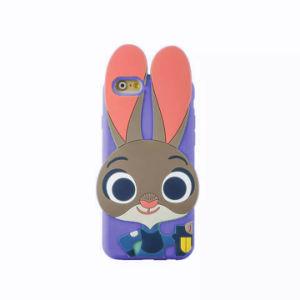 Judy Rabbit Cartoon Silicone Phone Case for iPhone 6 6splus 7 7plus 5s Se S6 S5 S7 (XSD-003-2) pictures & photos