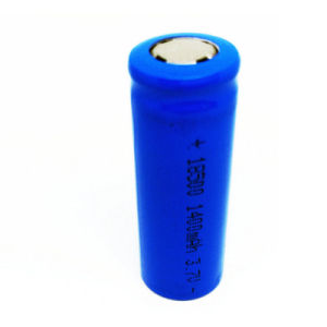 Rechargeable 18500 1400mAh Li-ion Batteries 18500battery Lithium Cell 3.7V Light Flashlight Battery pictures & photos
