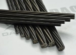 Grade 270 15.70mm Uncoated Post Tension Steel Wire Strand pictures & photos