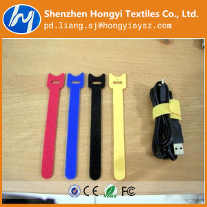 Easy Use Self-Adhesive Hook and Loop Velcro Cable/Wire Tie pictures & photos