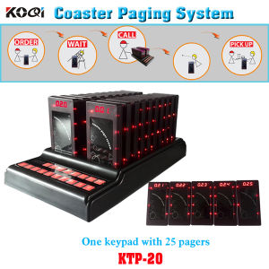 Coaster Paging Service System Queue Management 1 Keypad 25 Pagers pictures & photos