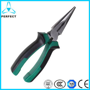 Germany Type Rubber Handle Flat Long Nose Pliers pictures & photos
