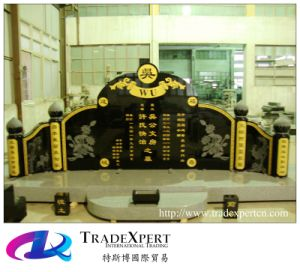 Shanxi Chinese Black Granite Headstone