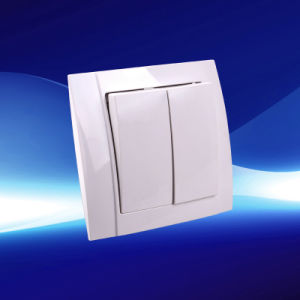 European 2 Gang 1 Way Wall Switch (YW2504)