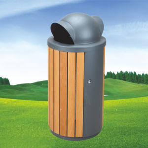 32L Wooden Steel Rain Bonnet Golf Trash Bin pictures & photos
