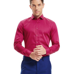 2016 Men′s Slim Fit Hot Fashion Dress Silk Shirt pictures & photos