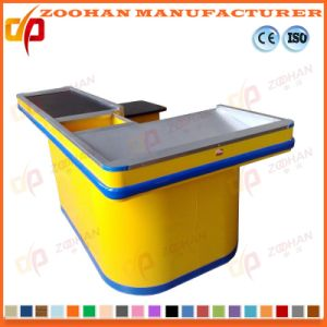 Supermarket Checkstand Checkout Counter Money Cashier Counter Desk Table (Zhc10) pictures & photos