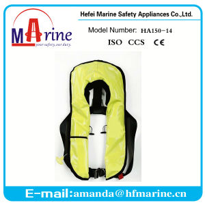 150n PVC Outer Cover Inflatable Life Jacket pictures & photos