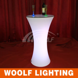 Commercial Plastic Modern Restaurant LED Coffee Bar Table pictures & photos