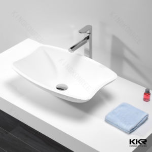 5 Star Hotel Standard Solid Surface Bathroom Sink pictures & photos