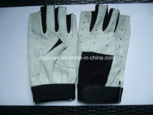 Half Finger Glove-Racing Glove-Bicycle Glove-Work Glove-Leather Glove pictures & photos