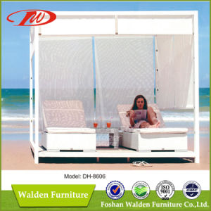 Rattan Beach Sun Bed Sun Lounger (DH-8606) pictures & photos