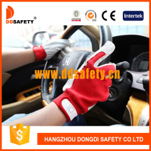 Ddsafety 2017 Pig Skin Cotton Back for General Working Place Gloves pictures & photos