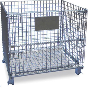 Stackable Folded Wire Mesh Container pictures & photos