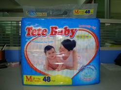 Tete Baby Disposable Medium Size 48 PCS Diaper pictures & photos