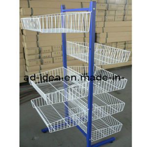 Wire Metal Display Rack and Cases for Supermarket (RACK-423) pictures & photos