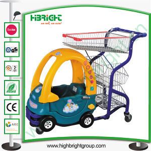 Supermarket Child Kiddie Shopping Trolley with Basket pictures & photos