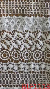 Polyester Lace Fabric for Garments, with Non-Stretch Material