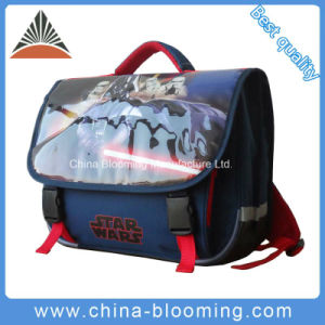 Children 38cm Polyester School Student Backpack Bag pictures & photos