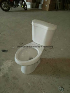 High Efficiency Round Siphonic Two Piece Toilet Set with 3 Inches Flush Fittings 9014 pictures & photos