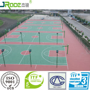 Guangzhou Manufacturer of Silicone PU Floor for Indoor Sport pictures & photos