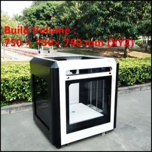 Three Dimensional Printer Wholesale Big Size 3D Printer with 750*750*750mm