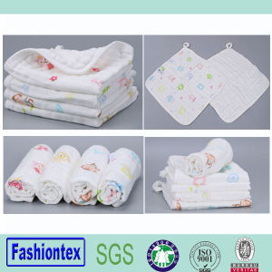Super Soft Printing Custom Muslin Nursing Towel Small Hand Towel pictures & photos