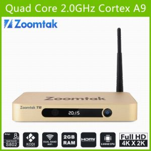 Dual Band WiFi TV Box Zoomtak T8 with Amlogic S802 Aluminum Case pictures & photos