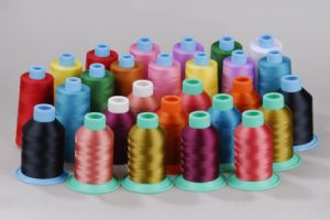 100% Color Rayon Sewing Polyester Elastic Thread pictures & photos