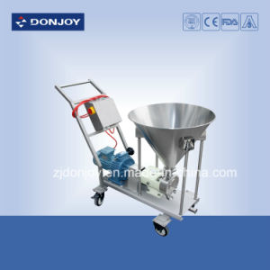 Sanitary Lobe Rotor Pump with Console and Hopper pictures & photos