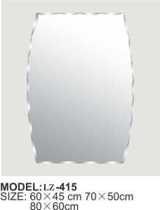 Modern Bathroom Engraved Silver Mirror (LZ-415) pictures & photos