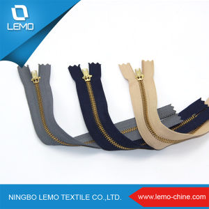 Gold Brass Zipper Accessories Manufacturer for Garments pictures & photos