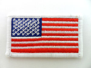 Custom Design Embroidered Country Flag Patch pictures & photos