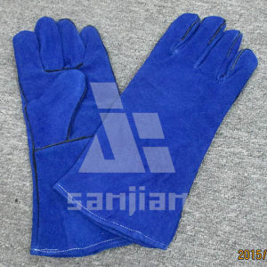 Full Palm Split Leather Ab/Bc Grade TIG Welding Safety Glove pictures & photos